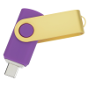 View Extra Image 1 of 4 of Swivel USB-C Drive - Gold - 8GB