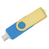 View Extra Image 2 of 4 of Swivel USB-C Drive - Gold - 16GB - 24 hr