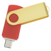 View Extra Image 1 of 4 of Swivel USB-C Drive - Gold - 32GB - 24 hr