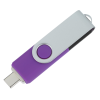 View Extra Image 2 of 4 of Swivel USB-C Drive - 16GB - 24 hr
