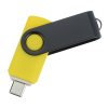 View Extra Image 1 of 4 of Swivel USB-C Drive - Black - 32GB - 24 hr