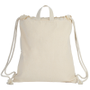 View Extra Image 1 of 1 of Recycled 8 oz. Cotton Drawstring Sportpack - 24 hr