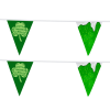 """View Image 2 of 2 of 20' Triangle Pennant String - 12"""" x 9"""" - 11 Pennants - Two Sided - Alternating"""