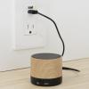 View Image 5 of 5 of Allegro Wood Grain Bluetooth Speaker
