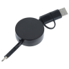 View Extra Image 1 of 3 of Bamboo Retractable Duo Charging Cable