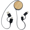 View Extra Image 2 of 3 of Bamboo Retractable Duo Charging Cable