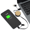View Extra Image 3 of 3 of Bamboo Retractable Duo Charging Cable