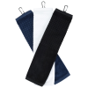 View Extra Image 1 of 3 of Trifold Scrubber Golf Towel with Carabiner Clip