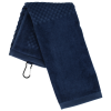 View Extra Image 2 of 3 of Trifold Scrubber Golf Towel with Carabiner Clip