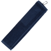 View Extra Image 3 of 3 of Trifold Scrubber Golf Towel with Carabiner Clip