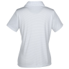View Extra Image 1 of 2 of Micro Striped Performance Polo - Ladies'