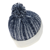 View Extra Image 1 of 2 of Casey Cable Knit Pom Beanie with Cuff