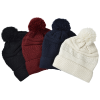 View Image 3 of 3 of Cozy Cable Knit Pom Pom Beanie