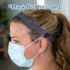 View Extra Image 1 of 1 of Elastic Headband with Face Mask Buttons - 1 inches