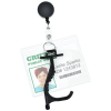 View Extra Image 1 of 4 of No Contact Keychain with Retractable Badge Holder - 24 hr