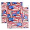 View Extra Image 4 of 8 of Patriotic Bandana - 22 inches x 22 inches