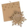 View Image 2 of 4 of Snowflake Wood Photo Ornament