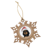 View Image 3 of 4 of Snowflake Wood Photo Ornament