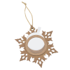 View Image 4 of 4 of Snowflake Wood Photo Ornament