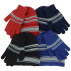 View Extra Image 1 of 4 of Striped Cuff Beanie and Glove Set