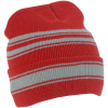 View Extra Image 2 of 4 of Striped Cuff Beanie and Glove Set