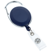 View Extra Image 2 of 3 of Domed Oval Metal Retractable Badge Holder with Carabiner