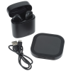View Image 3 of 9 of Oros True Wireless Auto Pair Ear Buds with Wireless Charging Pad