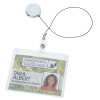 View Extra Image 1 of 2 of Domed Metal Retractable Badge Holder with Slip Clip