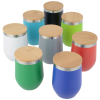 View Extra Image 2 of 2 of Vacuum Wine Cup with Bamboo Lid - 12 oz. - 24 hr