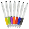View Extra Image 2 of 3 of Satin Twist Stylus Pen with Antimicrobial Additive