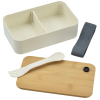 View Extra Image 1 of 6 of Bento Box with Bamboo Cutting Board Lid