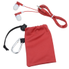 View Image 2 of 4 of Microfiber Pouch with Colorful Ear Buds