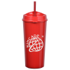 View Image 2 of 6 of Roadmaster Tumbler with Straw - 18 oz.