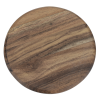 View Extra Image 2 of 4 of Acacia Wood 4 pc Coaster Set in Metal Stand - Round