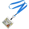 """View Image 2 of 3 of Economy Lanyard - 3/4"""" with Vinyl ID Holder"""