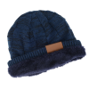 View Image 4 of 6 of Fuzzy Lined Heather Knit Beanie