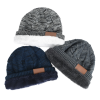 View Image 5 of 6 of Fuzzy Lined Heather Knit Beanie