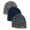 View Image 6 of 6 of Fuzzy Lined Heather Knit Beanie