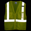View Image 2 of 3 of Reflective Zippered Pocket Vest
