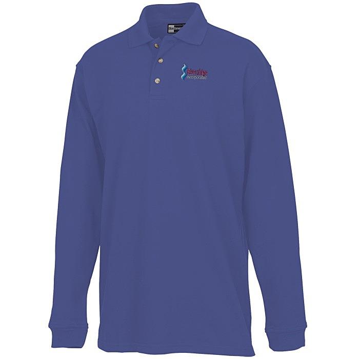 59e3b349 4imprint.com: Superblend Long Sleeve Pique Polo - Men's 6816-M