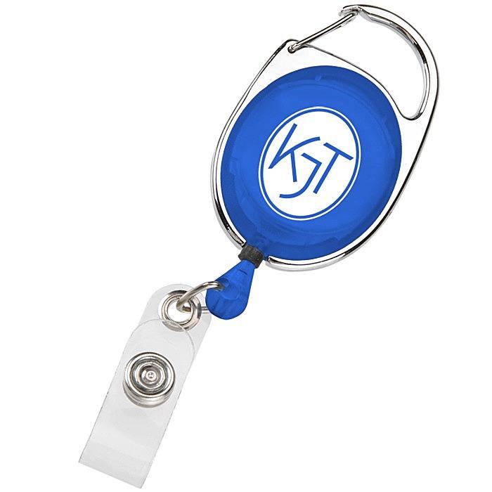 Clip-On Retractable Badge Holder - Translucent