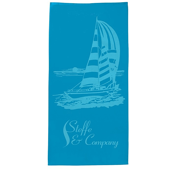 Reversible Tote...Sailboats with Navy Stars Trim