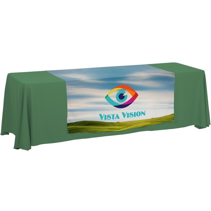 4imprint.com: 8' Closed-Back Table Throw and Runner Kit
