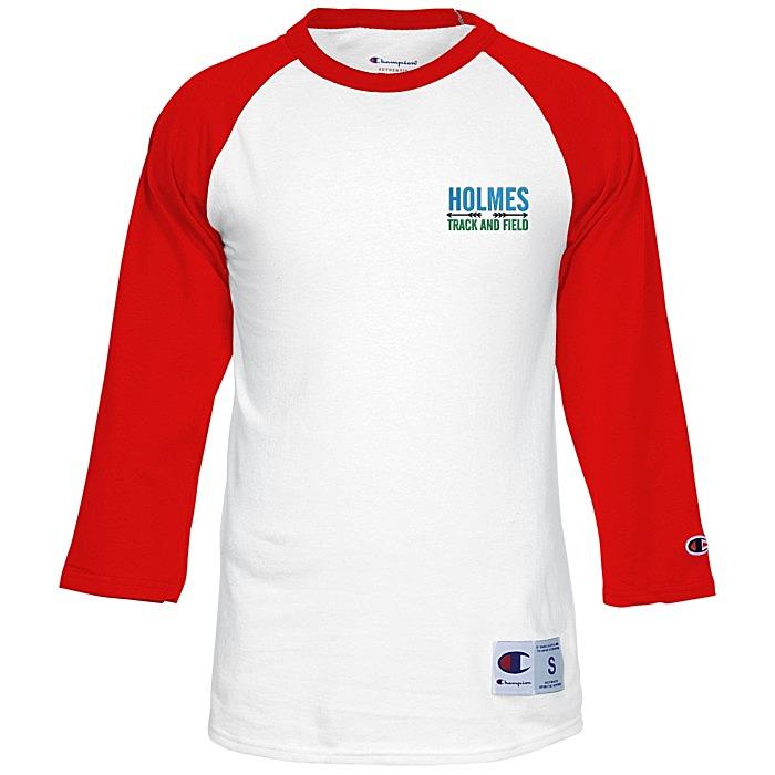 34a01ac1f 4imprint.com  Champion Tagless Raglan Baseball Tee - Embroidered ...