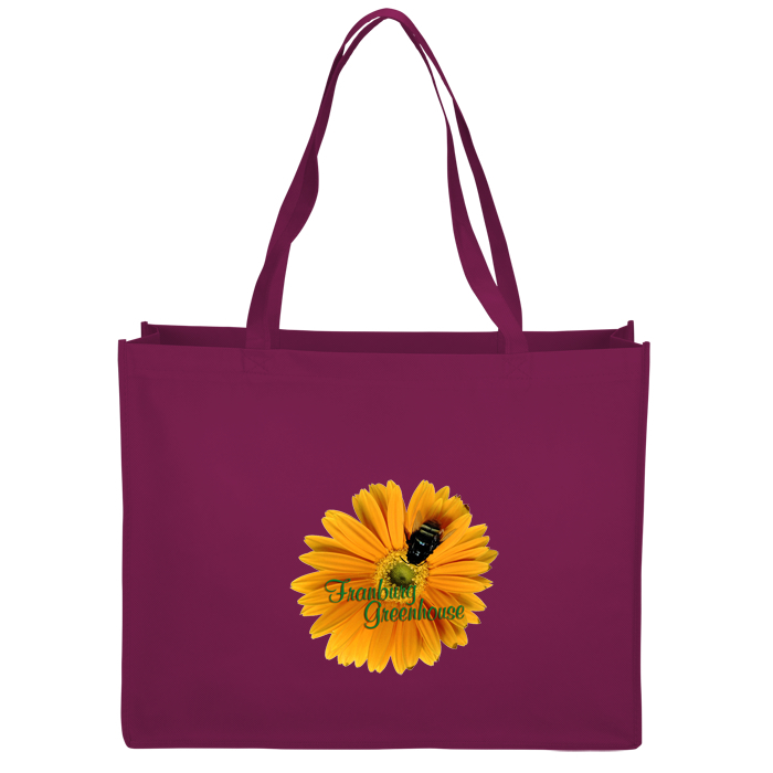 17000c0600 4imprint.com  Celebration Shopping Tote Bag - 16