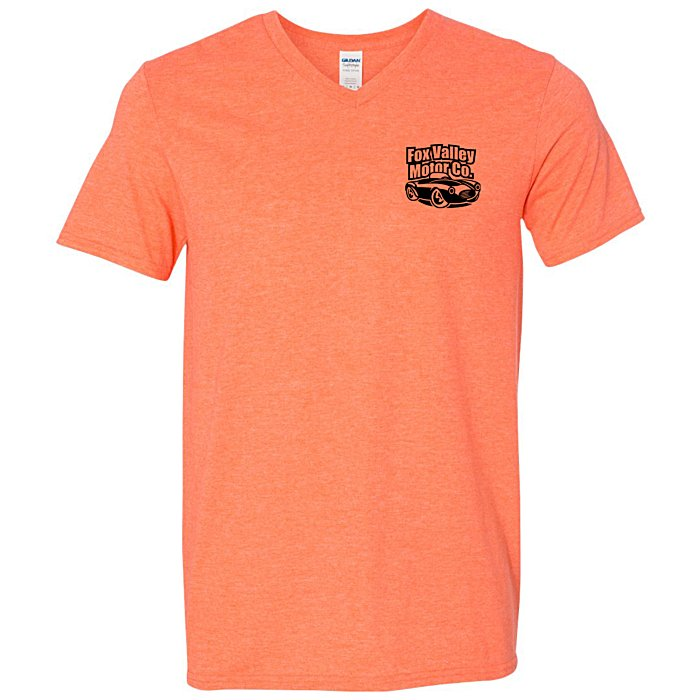1e454684 4imprint.com: Gildan Softstyle V-Neck T-Shirt - Men's - Colors ...