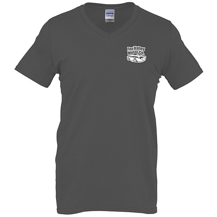 15d605a90bfe 4imprint.com  Gildan Softstyle V-Neck T-Shirt - Men s - Colors ...
