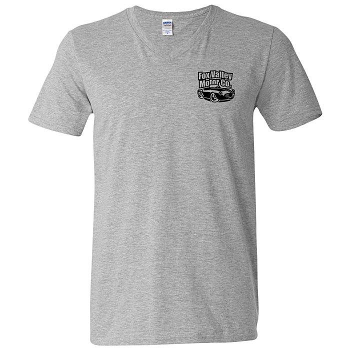 4imprint.com: Gildan Softstyle V-Neck T-Shirt - Men's - Colors ...