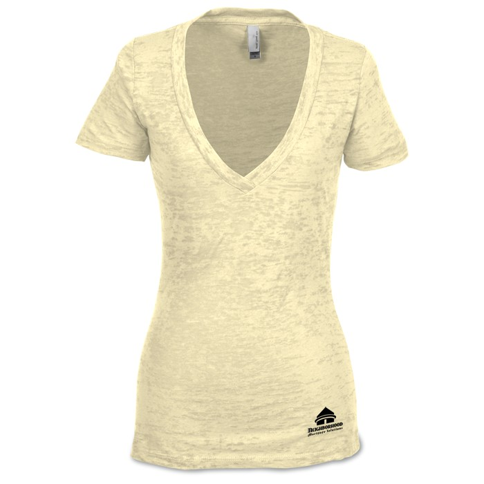 4imprint.com: Next Level Burnout Deep V Tee - Ladies