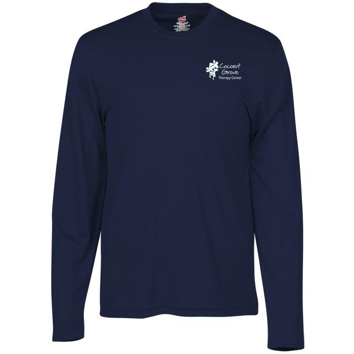 a9ff65a3e6125 4imprint.com  Hanes 4 oz. Cool Dri Long Sleeve T-Shirt 111580-LS
